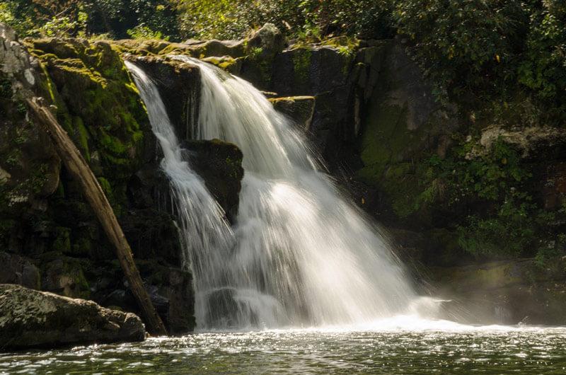 Waterfalls near maggie valley